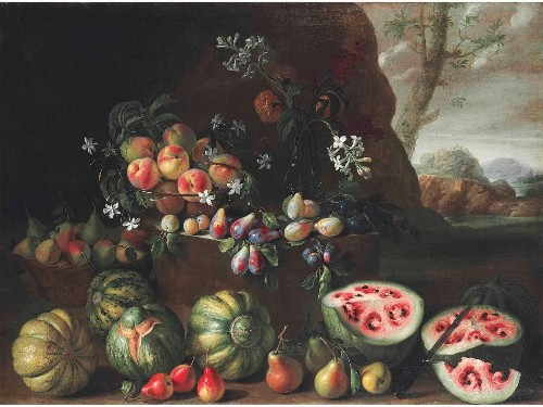 This painting shows how much humans have changed watermelons