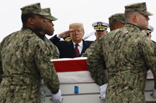 Trump paying tribute to Americans killed in Syrian attack