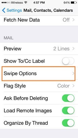 How to Change Mail Swipe Options in Settings on iPhone