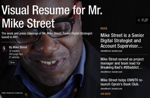 Using a Flipboard Magazine as a Professional Portfolio