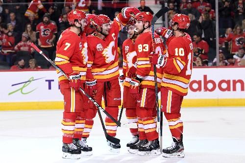 Five different Flames score as Calgary beats Detroit