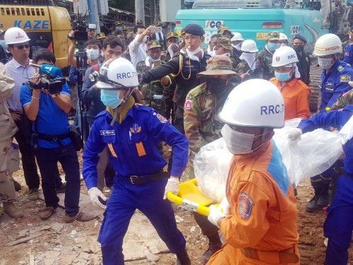 Rescuers find 2 alive in collapsed building in Cambodia