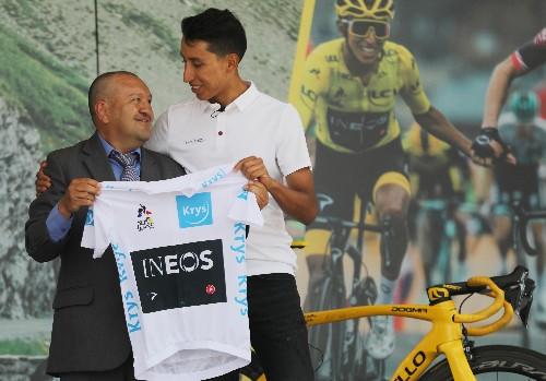 Tour de France winner Bernal gets hero's welcome in hometown
