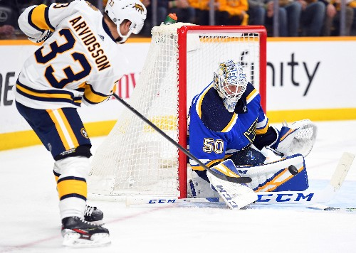 Preds complete series sweep of Blues