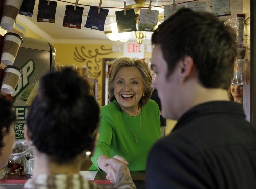 Hillary Clinton Hits the Campaign Trail in Iowa