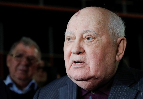 Frail Mikhail Gorbachev warns against return to the Cold War