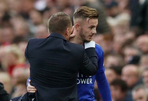 Soccer: Leicester boss Rodgers defends Maddison over casino visit