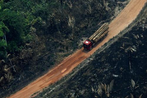 Warplanes dump water on Amazon as Brazil military begins fighting fires