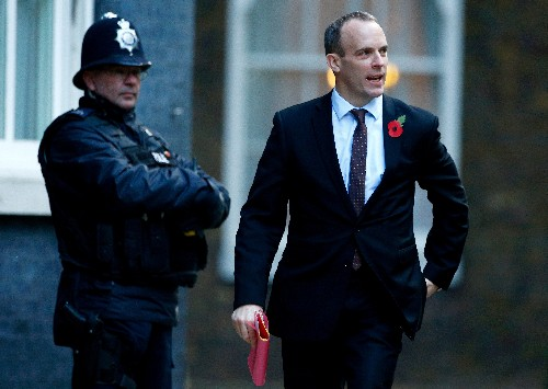 How Britain's Raab tripped on 'Barnier's staircase'