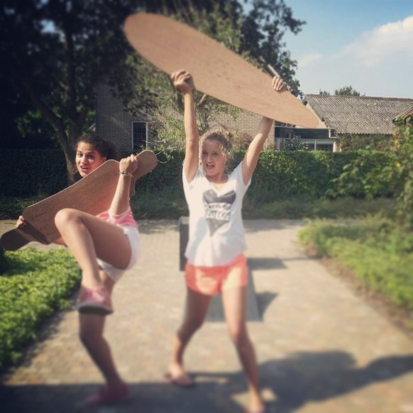 Sophie, I and our selfmade longboards