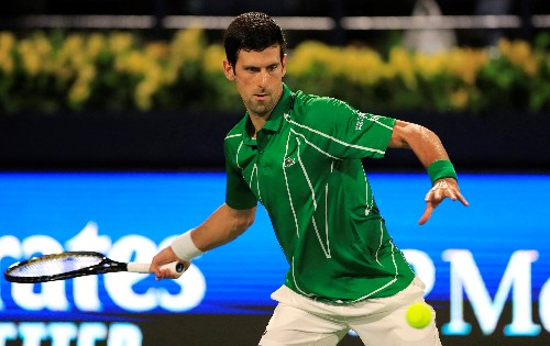 ATP roundup: Djokovic strolls to win in Dubai opener