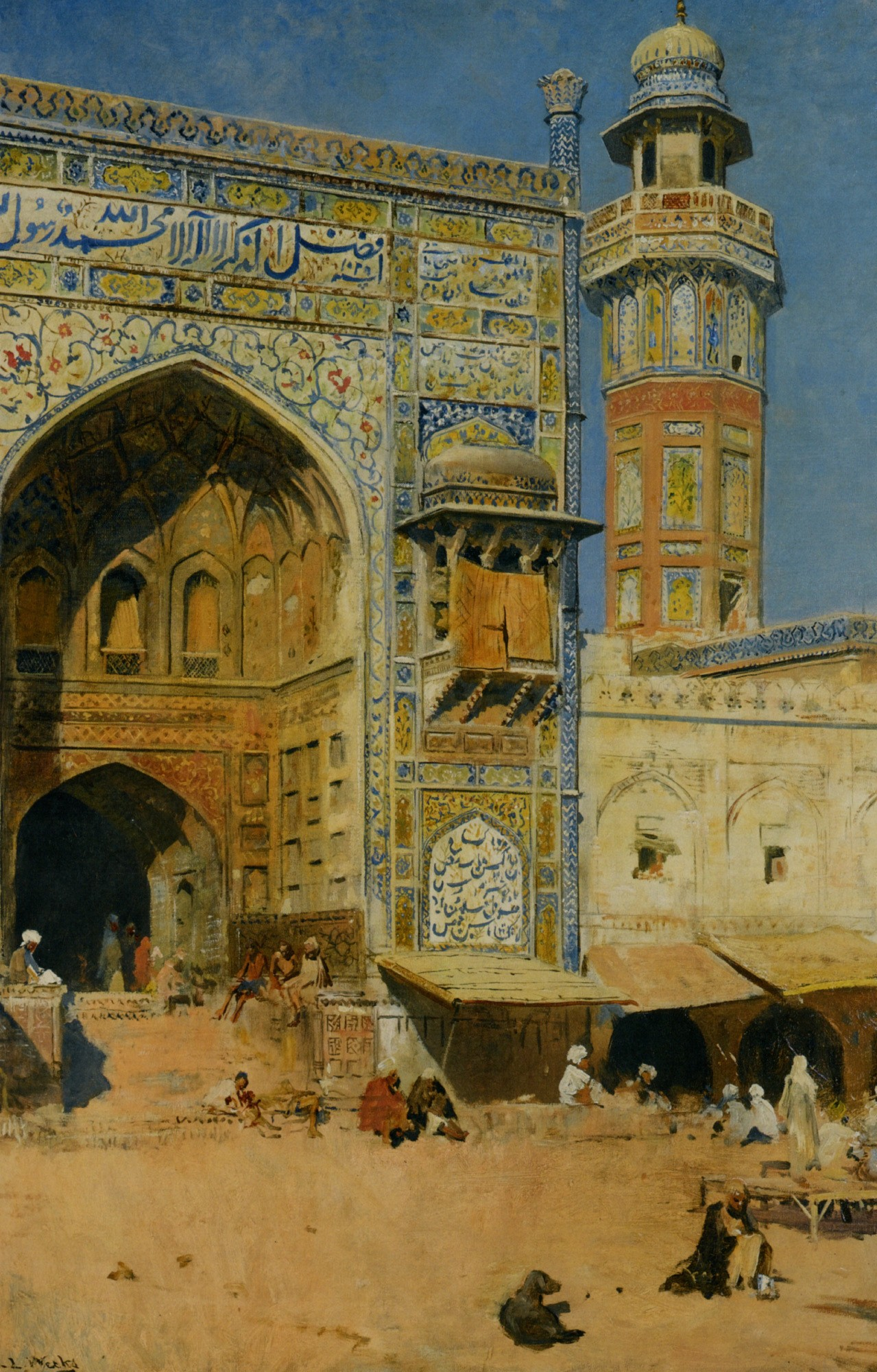 Jumma Masjid, Lahore India, 1899 Painting by Edwin Lord Weeks, American, 1849 - 1903