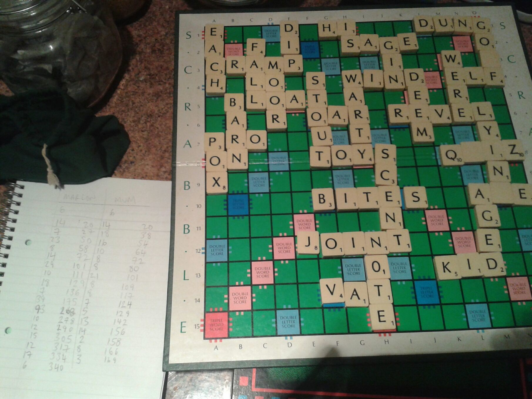 I beat my mum at Scrabble AGAIN.