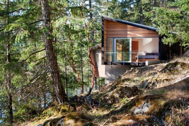 Articles about jaw dropping modern cabin nestled steep hillside british columbia on Dwell.com - Dwell