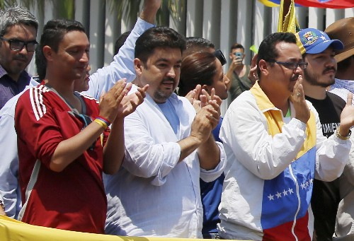 Venezuelan opposition aide is seized, US and allies protest