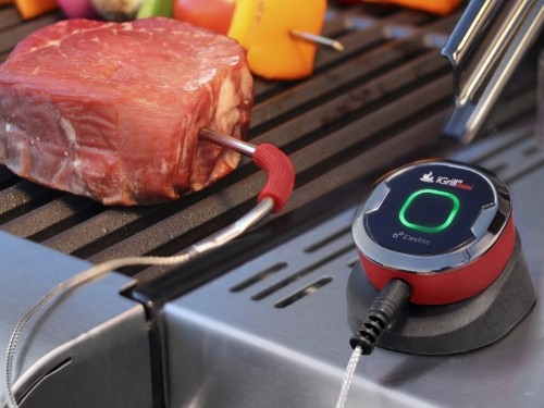 This Bluetooth cooking thermometer makes grilling perfect steaks effortless