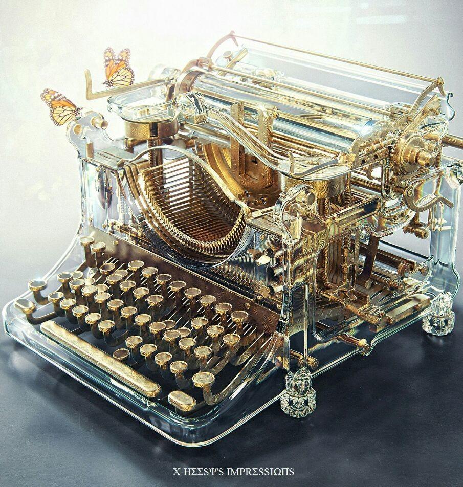 viola 📚 Glasses typewriter 📄 Shared by Alex