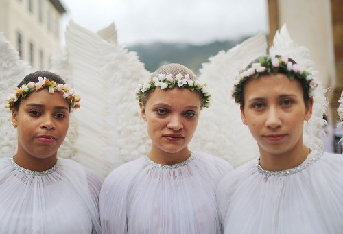 Traditional Easter Procession in Ouro Preto, Brazil