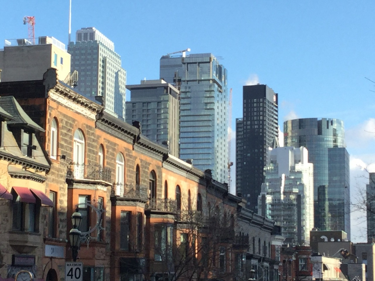 A view from Crescent Street where you'll find a number of restaurants and bars.