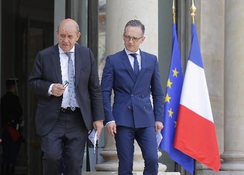 Europeans cool on Iran coalition talk, seek de-escalation