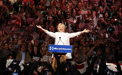 Big Night for Clinton, Trump: Pictures
