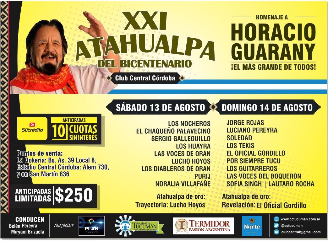 Llegó el día!!! Infórmate por nuestras vías de comunicación en Twitter @gsoraire @atahualpaok @acvfolclore Facebook: Festival Atahualpa, acvfolclore, Gonzalo Soraire