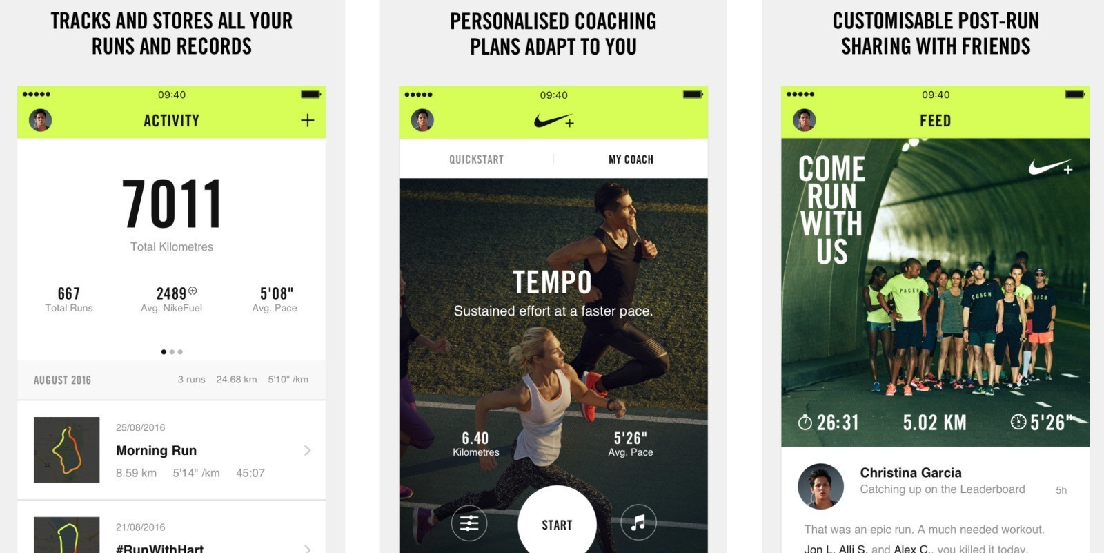 Nike+ Running rebrands, highlights tracking runs from watchOS ahead of GPS-equipped Apple Watch 2