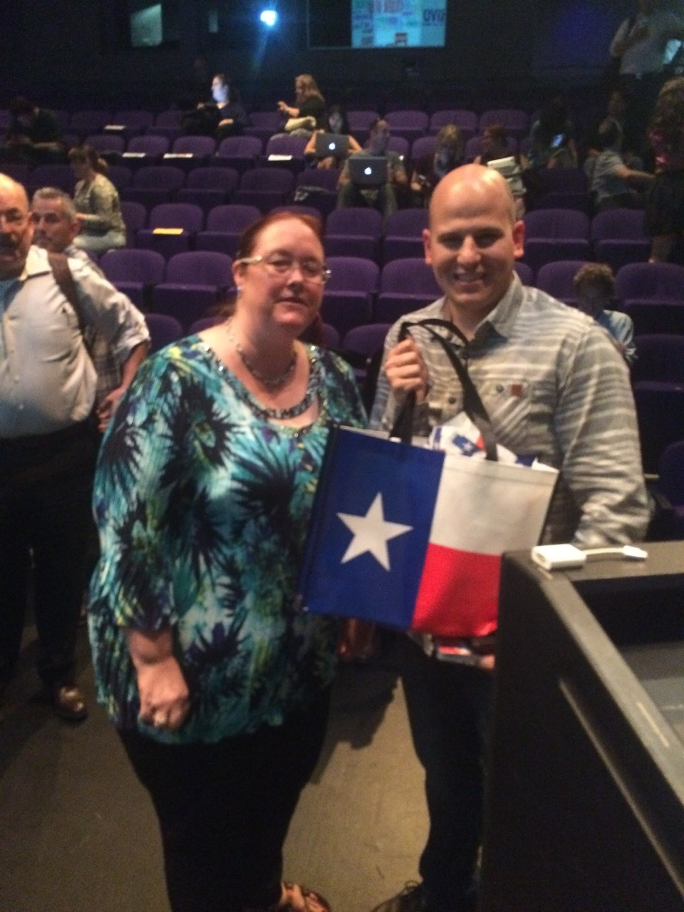 And Stacey with the winner of our Raffle left happy as his girlfriend lives texas and can take a little back to Canada with him.