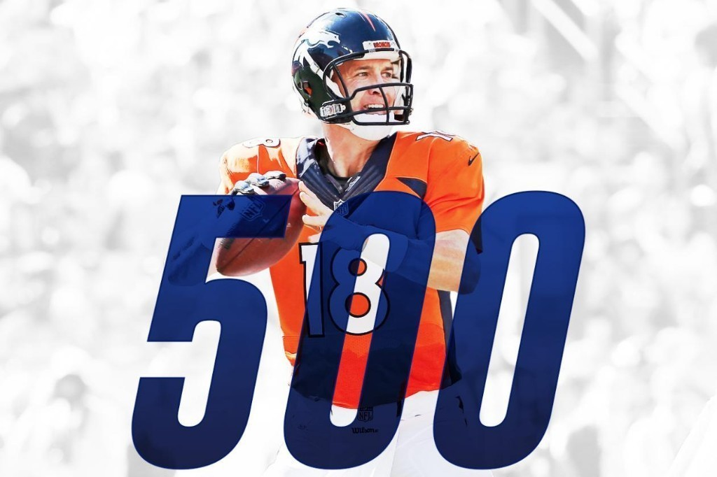 Peyton Manning Becomes 2nd QB to Throw for 500 Touchdowns in NFL History