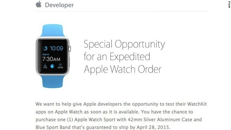 How to get an Apple Watch by Tuesday