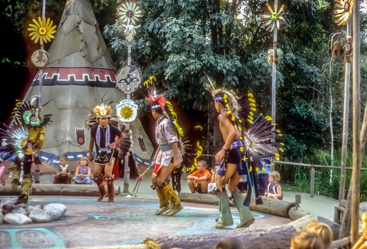 Daily Vintage Disneyland: Indian Traditional Dance in Frontierland at Disneyland in 1967 #disney #disneyland #frontierland