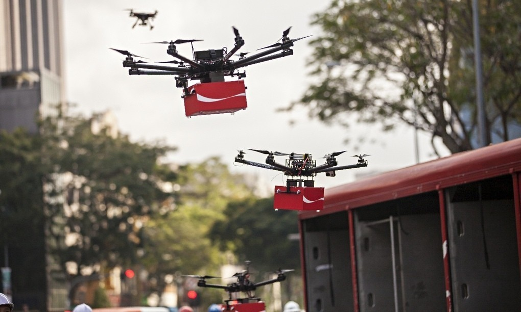 Delivering pizza, making films ... now safety fears grow over use of drones