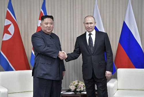 The Latest: Seoul hopeful Putin-Kim talks will help peace