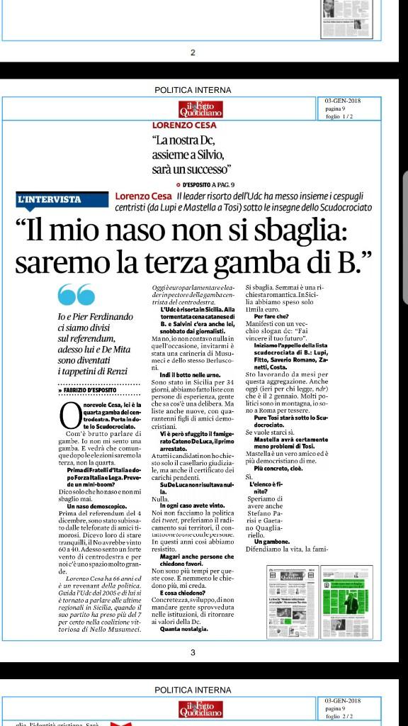 Nuovo accordo politico udc noi con l italua  - Magazine cover