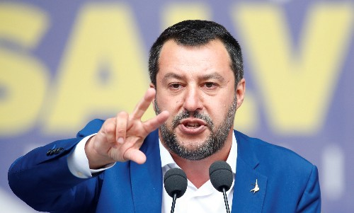 Italy's Salvini says all EU budget constraints should be removed