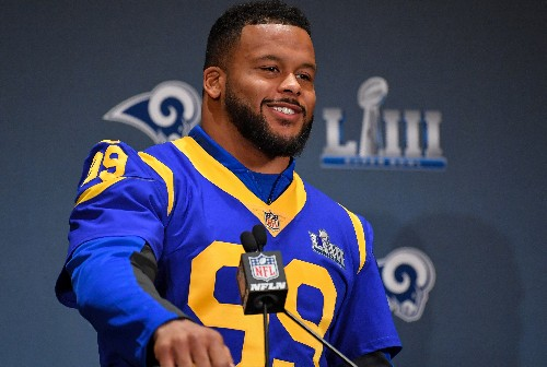 Rams' Donald finds motivation from Super Bowl loss
