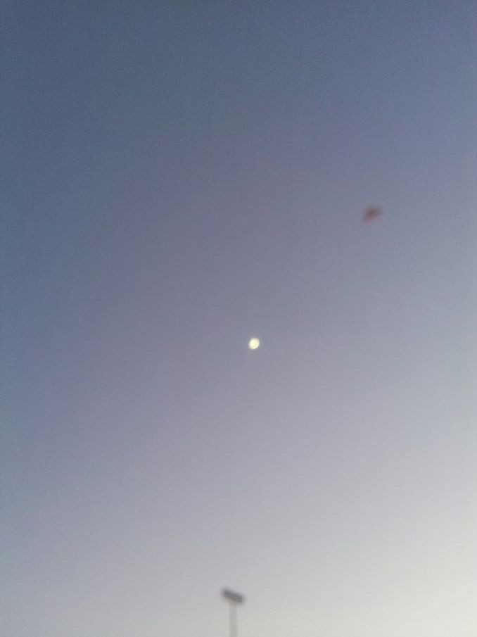 Ufo above The moon