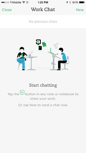 """Evernote Rolls Out Its New """"Work Chat"""" Feature"""