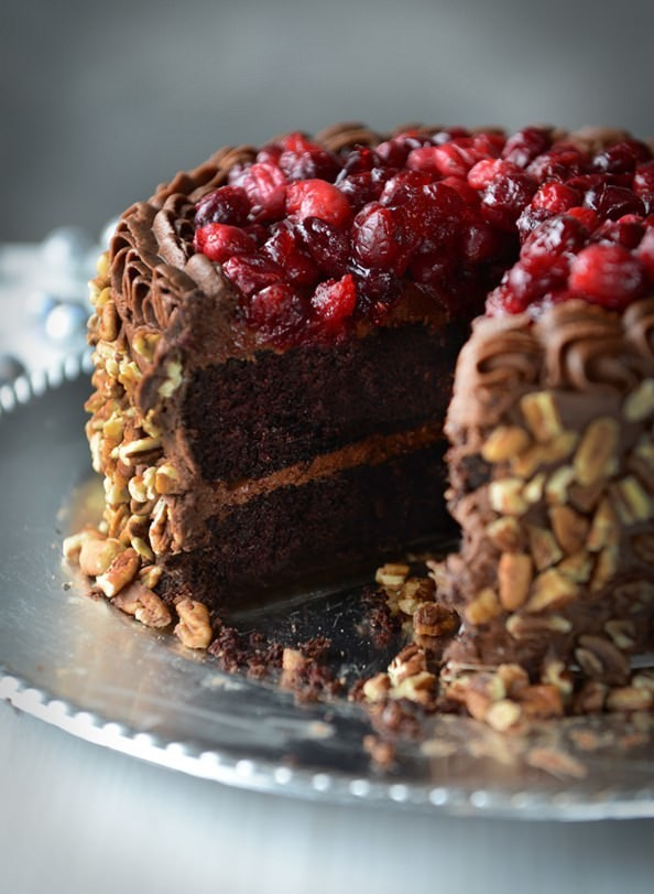 Try This Romantic Recipe from The Newlywed Cookbook for Valentine's: Glazed Cranberry Chocolate Cake