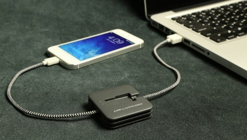 JUMP Cable Is The Right Smartphone Charger For Forgetful People
