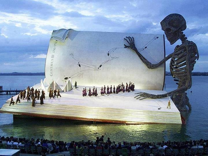 The marvellous floating stage of Bregenz festival in Austria