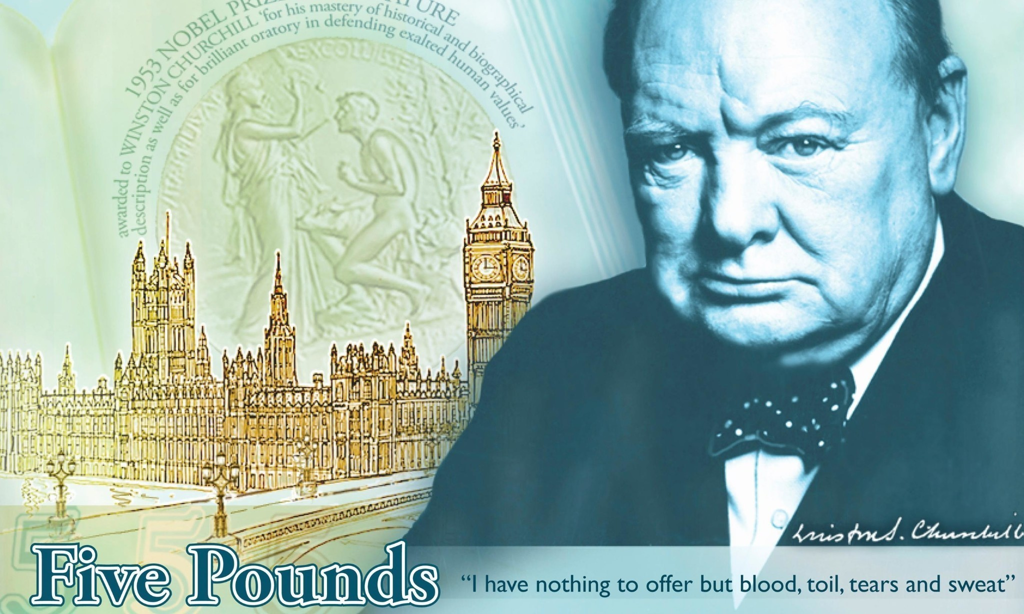Winston Churchill plastic £5 note ends trail of paper money