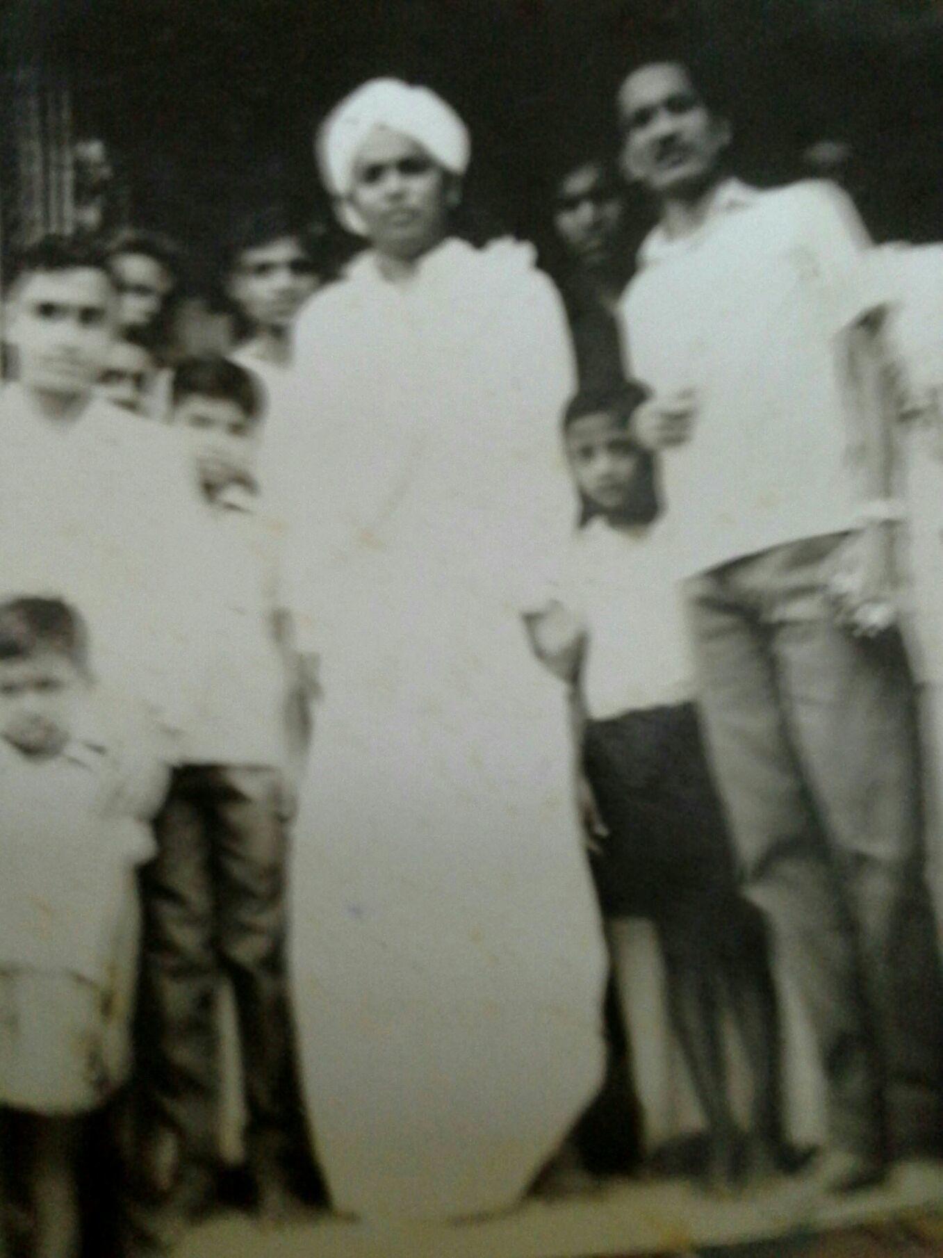 black & white photo from old album