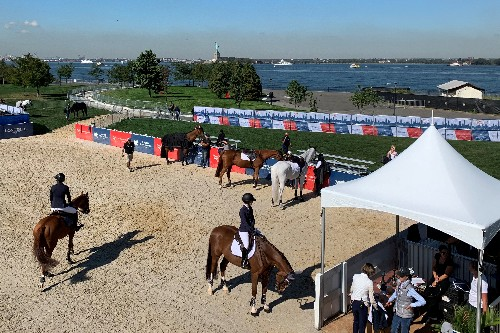 Equestrian: Horses take the ferry for show-jumping event on New York island