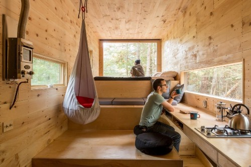 A pair of Harvard students have designed 160-square-foot 'tiny houses' that could be the future of weekend getaways