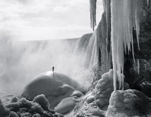 A Look Back at a Frozen Niagara Falls