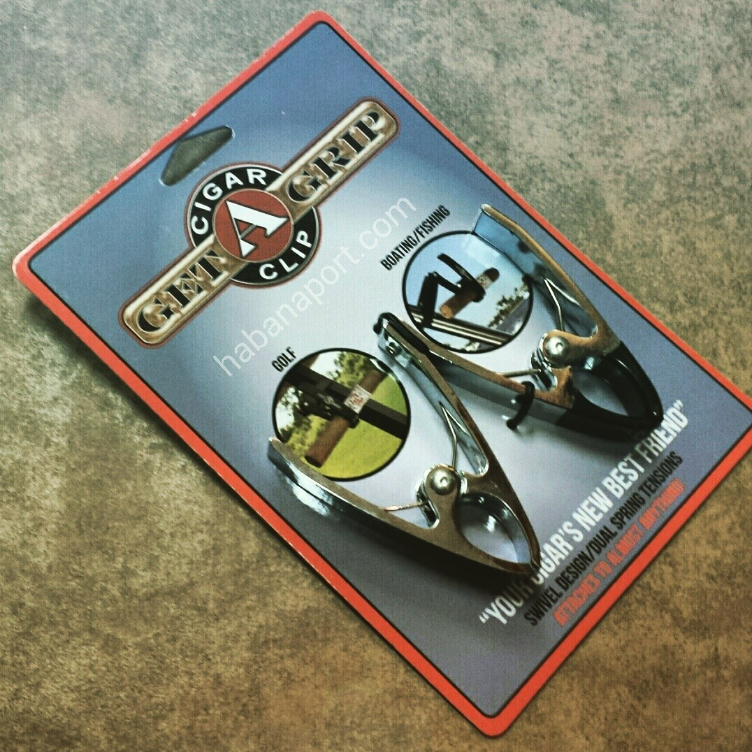 The Get-a-Grip Cigar Clip makes for a great accessory that holds your cigar while you're golfing, boating or engaging in any other outdoor activity. www.habanaport.com