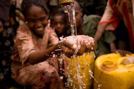 People in this country and this old have never seen water before so when they see it they drink as much as they want and never take there eyes off it because this people problem only see it once a year