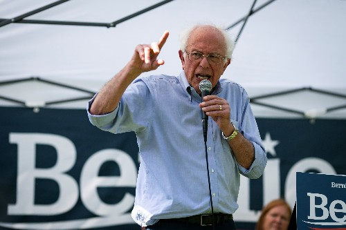 Bernie Sanders meets California fire victims, lays out Green New Deal