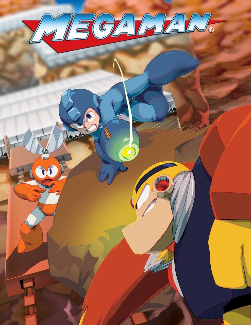 Mega Man I - Official art from the Mega Man Legacy Collection game.